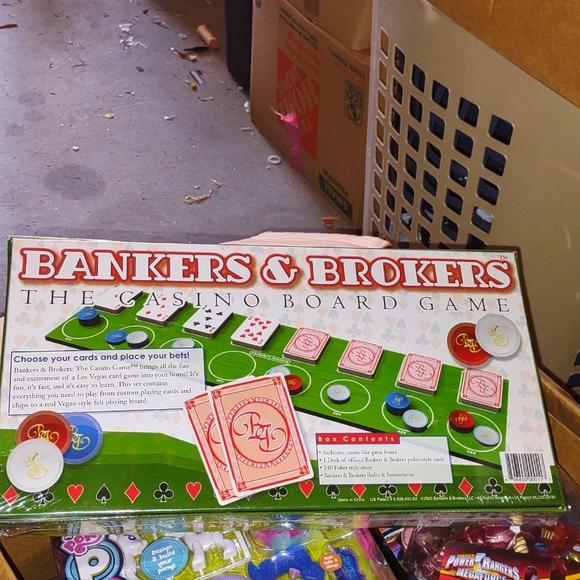 Bankers & brokers casino board game